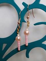 Lovely Pink Dangle Earrings 008 - $8.00