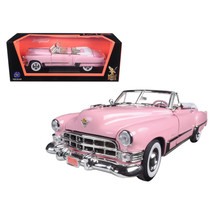 1949 Cadillac Coupe De Ville Convertible Pink 1/18 Diecast Model Car by Road Sig - $52.40