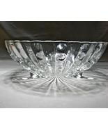 Vintage Anchor Hocking Glass Burple Clear Pattern Large Dessert Bowl 8.... - $7.19