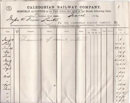 Caledonian Railway Coy. 1882 Glasgow Messrs. Wm Dixon Limited Invoice Re... - $7.55