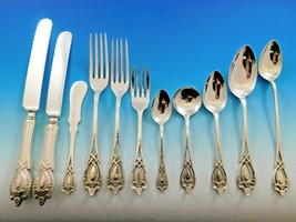 Monticello by Lunt Sterling Silver Flatware Set For 12 Service 189 Pieces Dinner