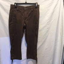 Lee Comfort Waist Band Brown Capri Pants sz 6 M 98% Cotton 2% Spandex - $13.99