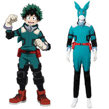 Boku no/My Hero Academia S2 Izuku Midoriya Cosplay Costume Battle Suit Beta - $99.00+