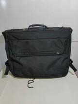 Vintage American Tourister Black Cloth Garment Luggage Bag - $24.24