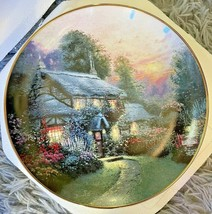 """Knowels 1993 """"Julianne's Cottage"""" by Thomas Kinkade Collectors Plate (58... - $13.98"""