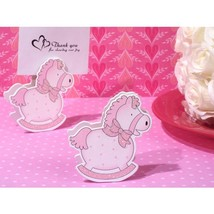 Precious Pink Rocking Horse Place Card Holder - 12 Pieces - $11.95