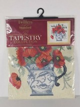 "#1569 TWILLEYS OF STAMFORD ""THE TAPESTRY COLLECTION - - Poppies in a Vase  - $38.75"