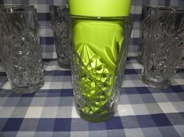 One Dozen Commercial Grade Libbey 5633 Hobstar 16oz Cooler Clear Cut Glasses - $23.38
