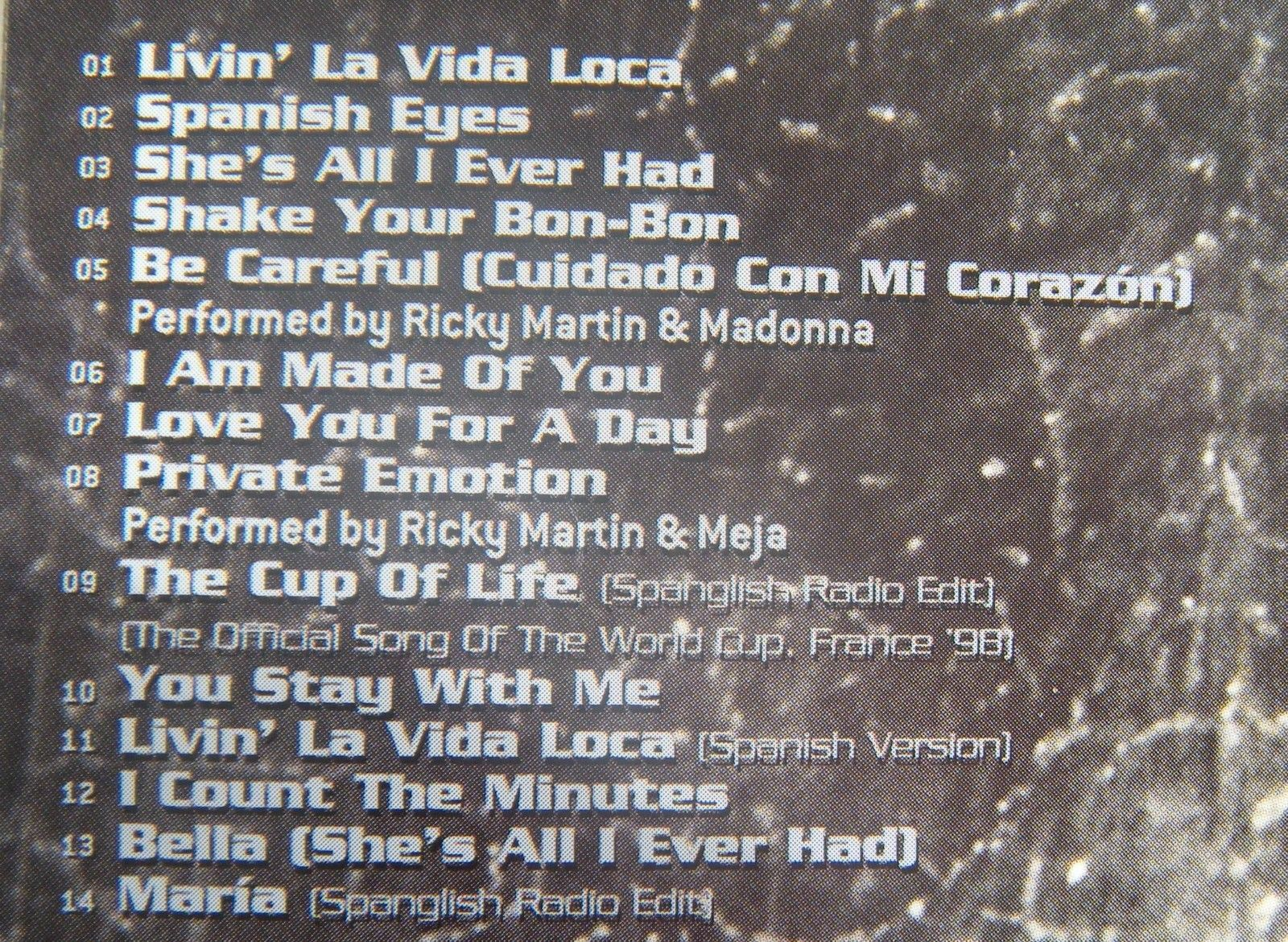 RICKY MARTIN  CD Livin LaVida Loca image 4
