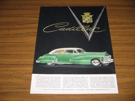 1947 Print Ad Cadillac 4-Door Green 2-Tone Car General Motors - $14.54