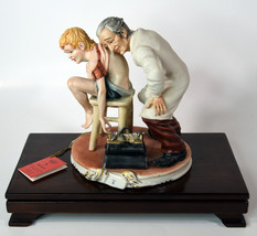 """7"""" Vintage Italian Capodimonte Porcelain Old Doctor With Boy Medea By Rory - $474.99"""