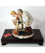 "7"" Vintage Italian Capodimonte Porcelain Old Doctor With Boy Medea By Rory - $474.99"