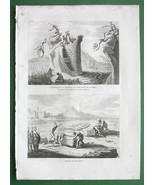 HOLY LAND Punishemnt of Criminals Stone Crushing - Antique Print - $8.44