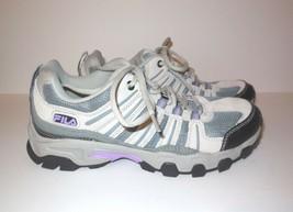 FILA Leather Sneakers sz 7.5 Gray Mesh Hiking Running Walking Women's - $22.00