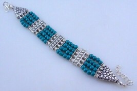 Turquoise Beaded Bracelet Jewelry 22 Gr. oj-343-10 - $5.35