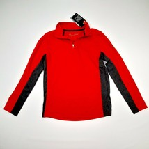 Under Armour Boys 1/4 Zip Polo Shirt Size M Red Polyester D274 - $17.81