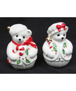 Lenox Christmas  teddy bears salt and pepper shakers in box - $9.95