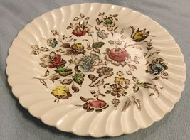 Johnson Brothers Staffordshire Bouquet Ironstone Ribbed Dinner Plate 9.7... - $20.00