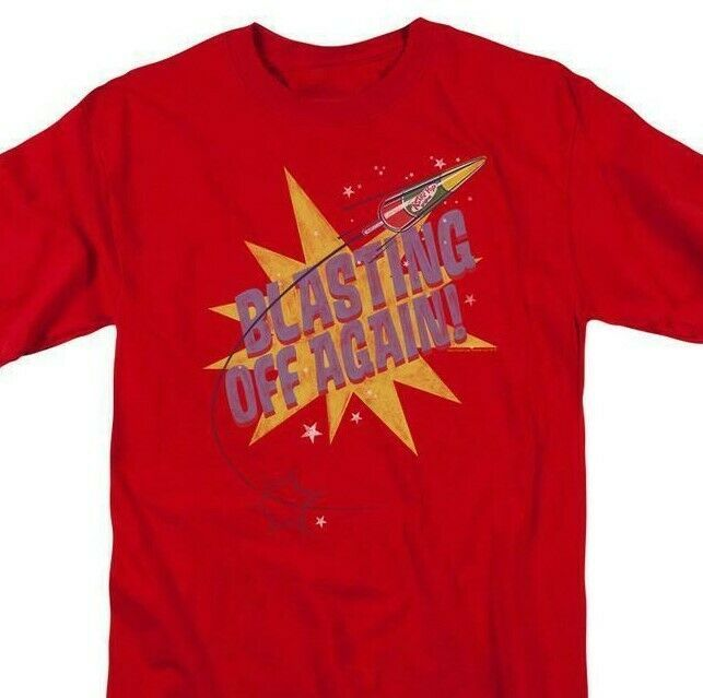 Astro Pop T-shirt Blasting Off retro 80's 70s candy cotton graphic tee AP107