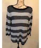 CROFT & BARROW women's Navy Blue And Light Blue Scoop neck Sweater Size XL - $0.98