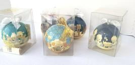 Vtg Precious Moments Christmas Ball Ornament Enesco Lot of 5 Xmas Collec... - $23.19