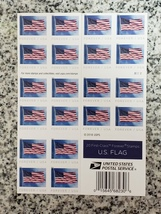 USPS U.S. Flag First-class FOREVER postage stamp - $14.49