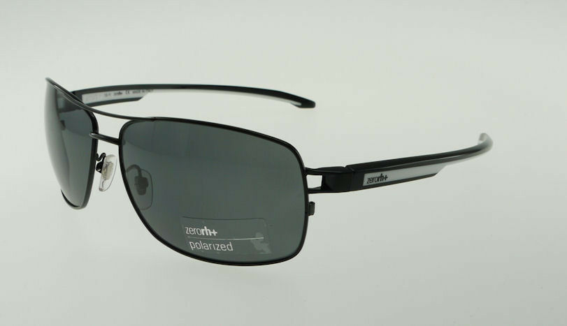 Primary image for ZERORH+ TOGA Shiny Black & White / Polarized Gray Sunglasses RH755-04 CARL ZEISS