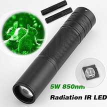 IR Night Vision Flashlgith 5W 850nm LED Zoomable Infrared Radiation Lant... - £10.11 GBP