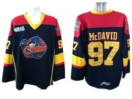 Erie Otters Reebok #97 Connor McDavid OHL Sewn Hockey Jersey Fight Strap... - $259.99