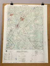 Southern Pines Fort Bragg Military Base North Carolina 1976 Map Fayettev... - $29.99