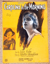 Carolina in the Morning Song Sheet Music  1921-Marion Weeks-Operatic Edi... - $4.99