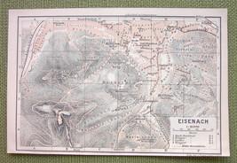 GERMANY Eisenach City Town Plan - 1904 MAP ORIGINAL Baedeker - $3.72
