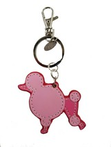 NWT Genuine Leather Dog Keychain Poodle - $10.88