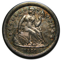 1841O Silver Seated Liberty Dime 10¢ Lot # MZ 3532