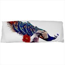 dakimakura body hugging pillow case peacock male bird geek nerd cover  - $36.00
