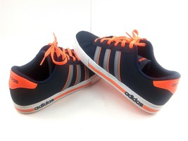 Adidas Men's Sneakers Neo Cloudfoam Daily Team F99628 Blue / Orange Shoe... - $49.32