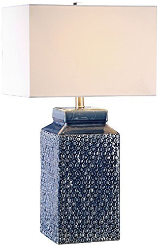 Primary image for Uttermost 27229-1 Pero - One Light Table Lamp, Textured/Sapphire Blue Glaze/Brus