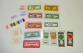 Vintage 1977 - The Game of Life Milton Bradley PARTS / PIECES - Cash Cards Cars  - $16.04