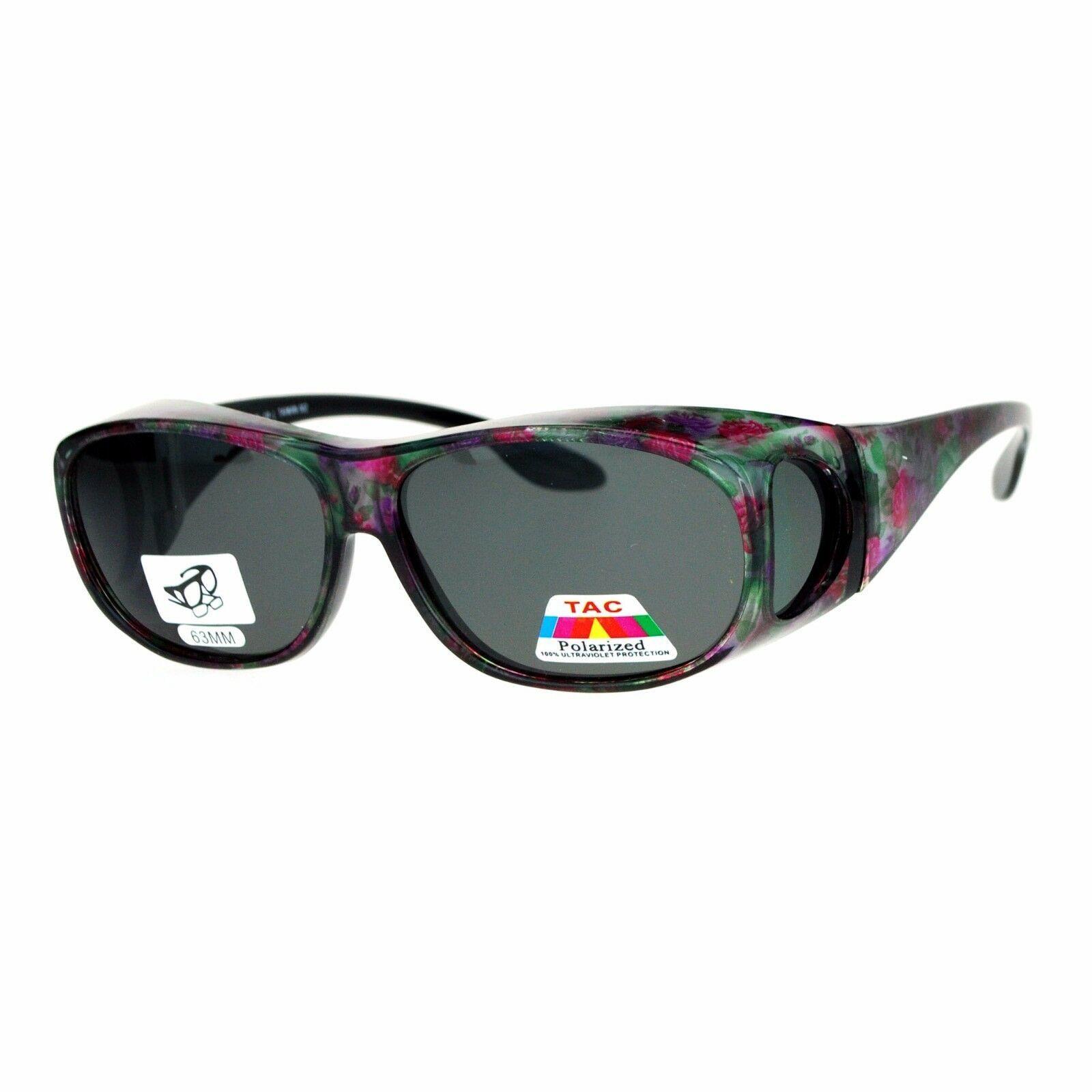 Polarized Lens OTG Sunglasses Fit Over Glasses Oval Rectangular Anti-Glare