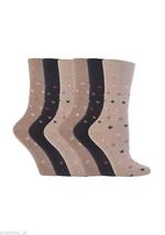 6 Pairs Womens Sockshop Gentle grip socks 4-8 uk,37-42 Hearts Neutral GG48 - $13.97