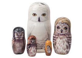 "Snowy Owl Doll 5pc./6"" - $66.00"
