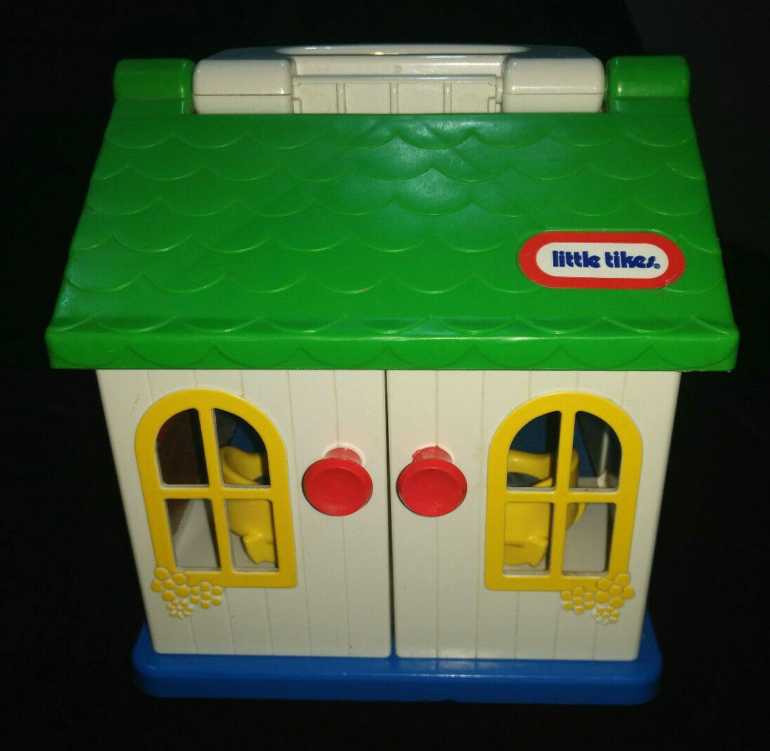 Vintage 80's Little Tikes Toddle Tots House Carry Playset  Very Clean