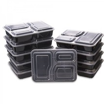 Healthy Meal Prep Containers Small 3 Compartment Weekly With Lids Dispos... - €14,89 EUR