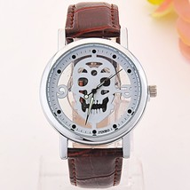 Hollow-out Skull Real Belt Quartz Watch Fashion Double-sided Vintage Men... - $8.03