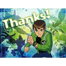 Ben 10 Alien Force Thank You Cards 8 Per Package Birthday Party Supplies... - $4.21