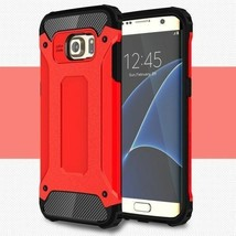 PC + TPU Phone Cover for Samsung Galaxy S7 edge G935 - red - $2.99