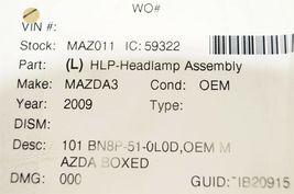 04-08 Mazda 3 Sedan Halogen Headlight Head Light Lamp Driver Left LH **NOS** image 11