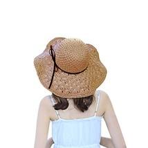 Masubo Woman Summer Beach Hat Straw Wide Brim Sun Hats for Women Outdoor... - $16.23
