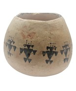 Native American small pottery jar with designs ..may be very old - $45.95