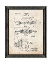 Car Bumper Patent Print Old Look with Black Wood Frame - $24.95+